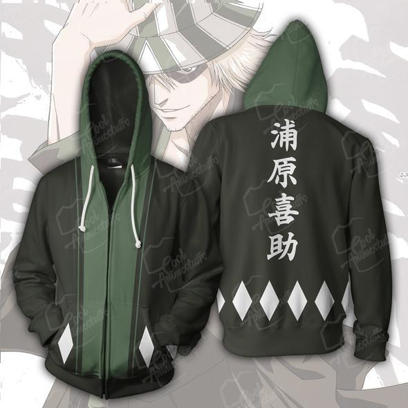 Bleach Hoodies - Bleach Kisuke Urahara Zip Up Hoodie