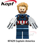 Building Blocks Single Sale Avengers INFINITY WAR Spider-Man Thanos Captain America Vision Rocket Toys for children Model KF6033