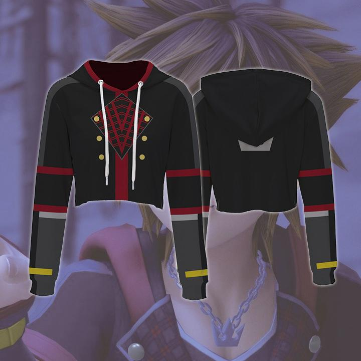 Kingdom Hearts Hoodies - Sora Crop Top Hoodie