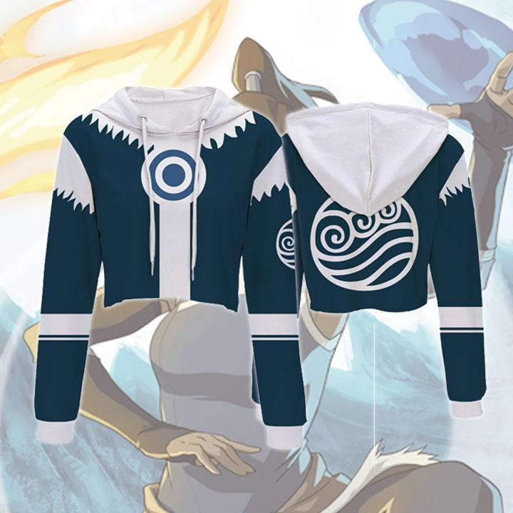 The Legend of Korra Hoodies - Korra Crop Top Hoodie