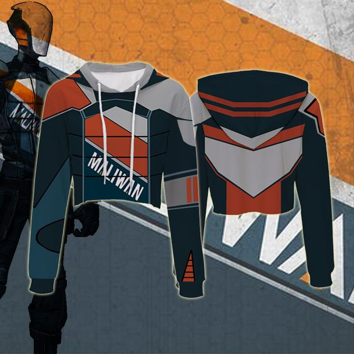 Borderlands Hoodies - Borderlands Maliwan 1 Crop Top Hoodie
