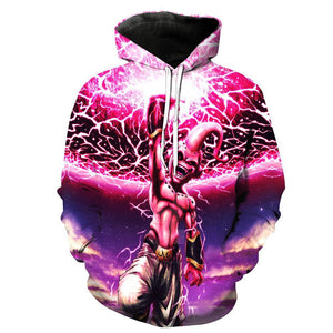 Dragon Ball Z Hoodies - Kid Buu Pull Over Hoodie - 3D Hoodies Clothing