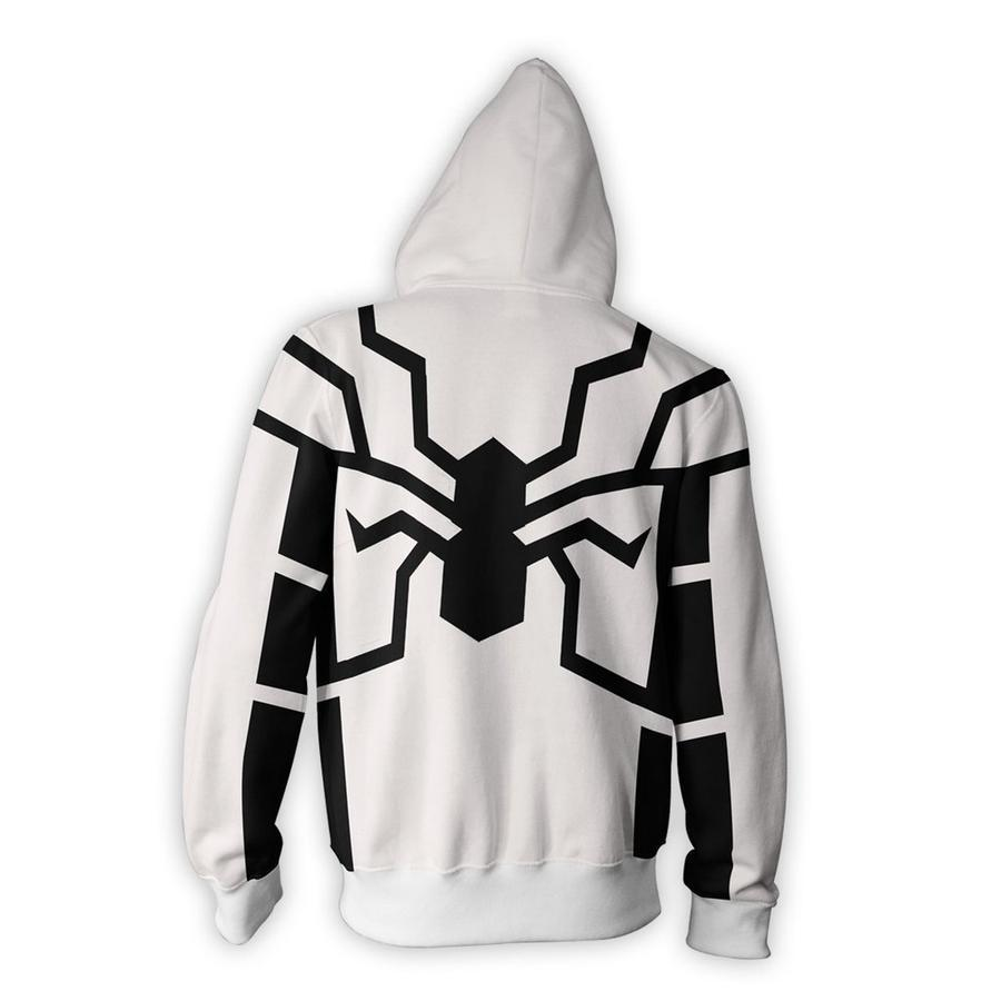 Spiderman Hoodies - Future Foundation Spider Man Zip Up Hoodie