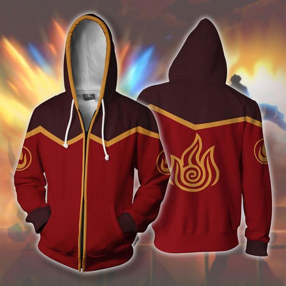 Avatar Hoodies - Fire Nation Zip Up Hoodie