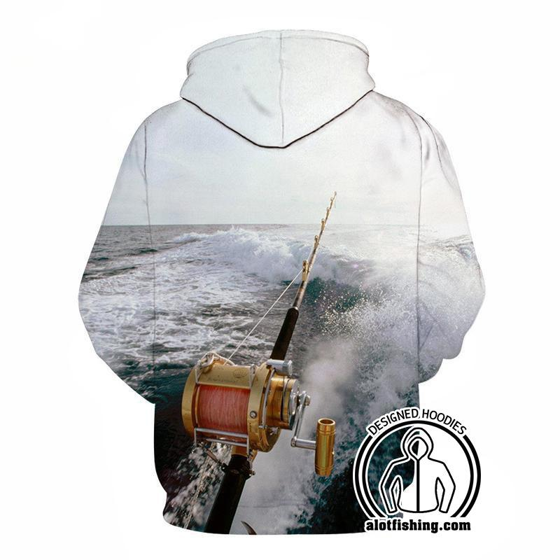 Fishing Hoodies - 3D Print Unisex Pull Over Hoodies - Deep Sea Fishing A