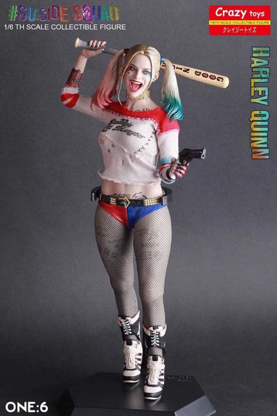 Harley Quinn Statue And Joker Statue, DC Comics - Crazy Toys Figure And Statue 30cm
