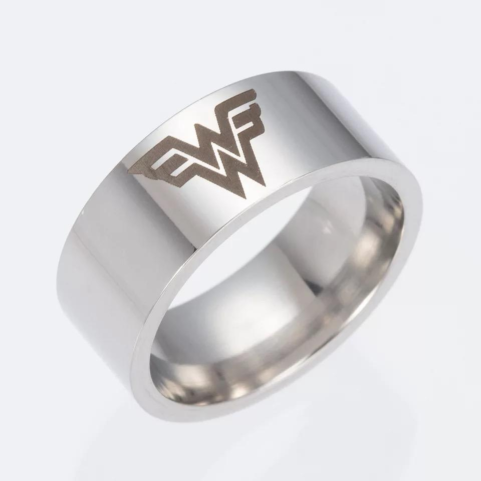 Wonder Woman Tungsten Ring - Custom Laser Engraved