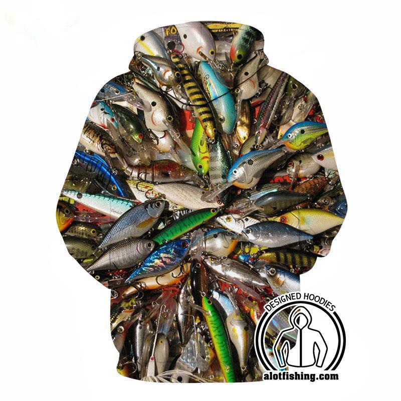 Fishing Hoodies - 3D Print Unisex Pull Over Hoodies - Fishing lures A fishfanclub