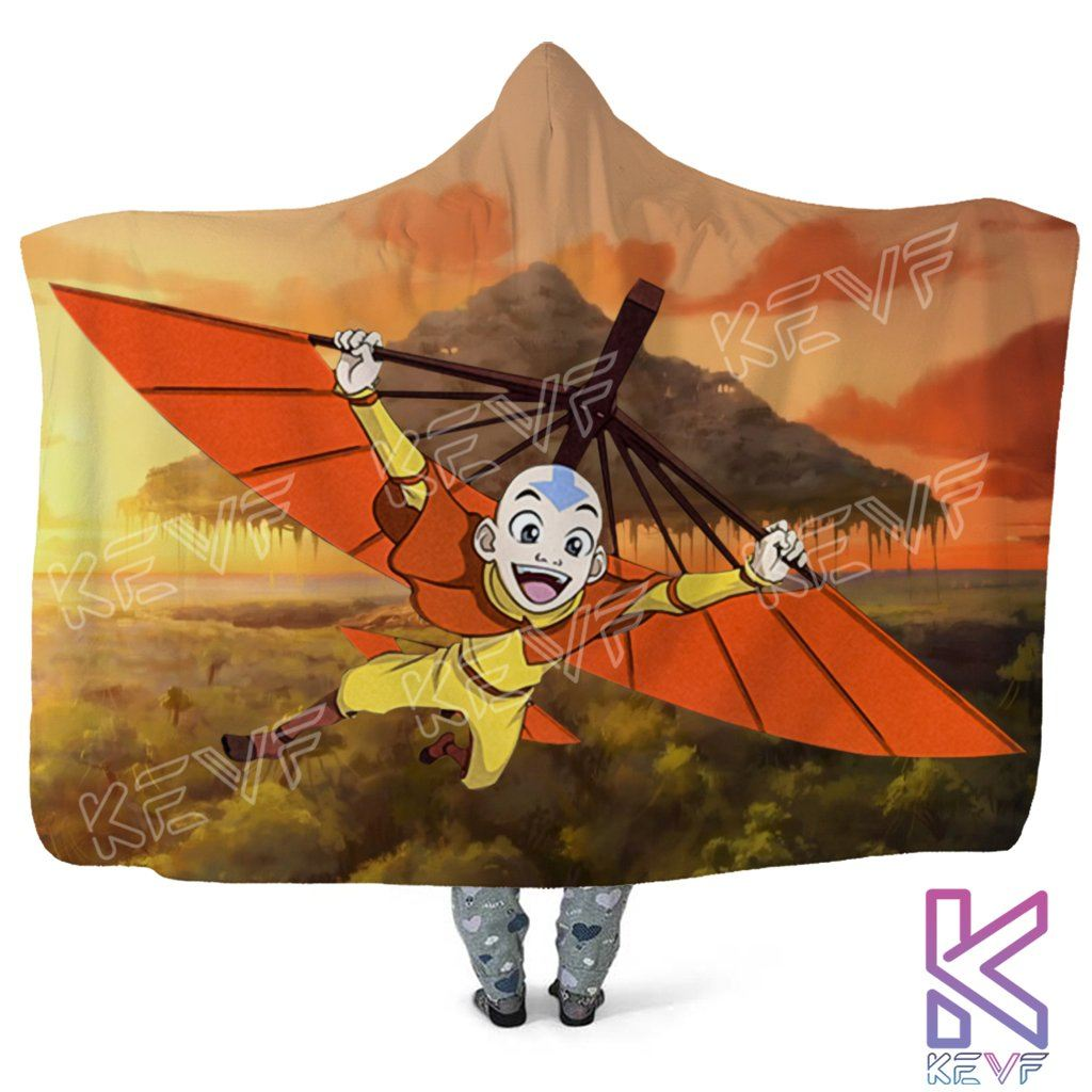 Avatar The Last Airbender Aang Hooded Blanket