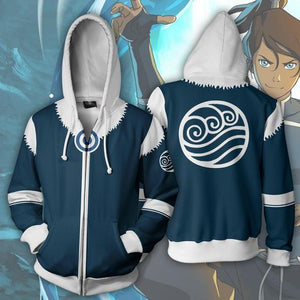 The Legend of Korra Hoodies - Korra Zip Up Hoodie