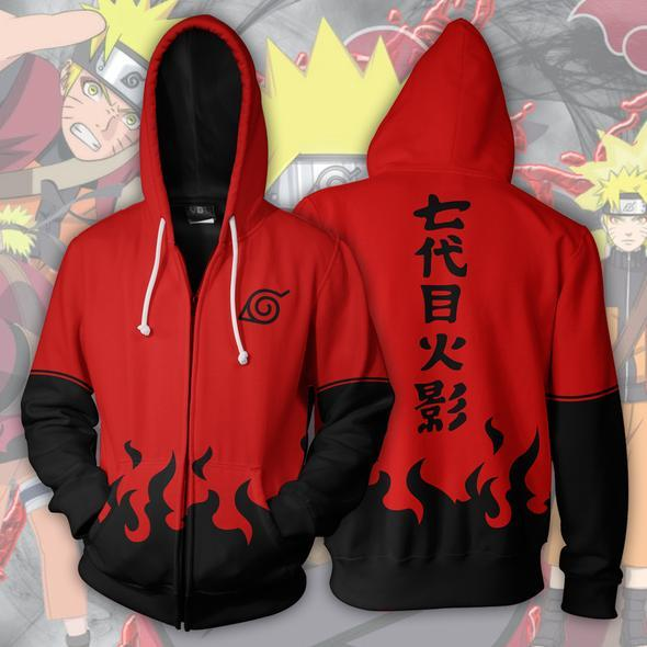 Naruto Hoodies - Naruto Sage Mode Zip Up Hoodie