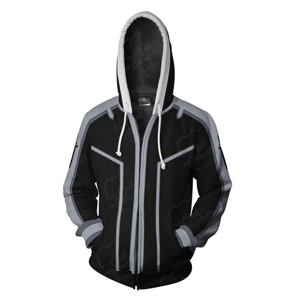 Sword Art Online Hoodies - SAO Kirito Zip Up Hoodie