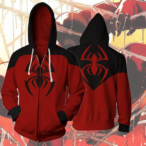 Spiderman Hoodies - Scarlet Spider Kaine Parker Zip Up Hoodie