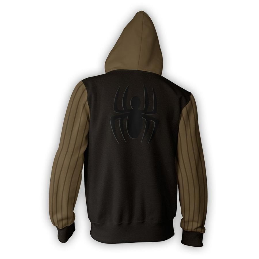 Spiderman Hoodies - Spider Man Noir Zip Up Hoodie