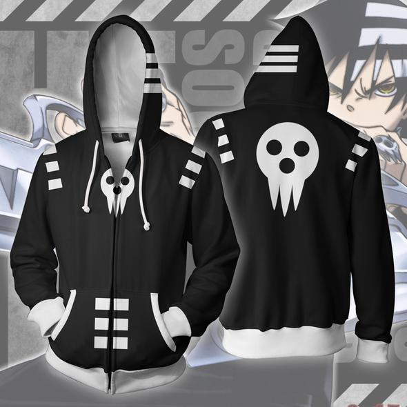 Soul Eater Hoodies - Death The Kid Zip Up Hoodie