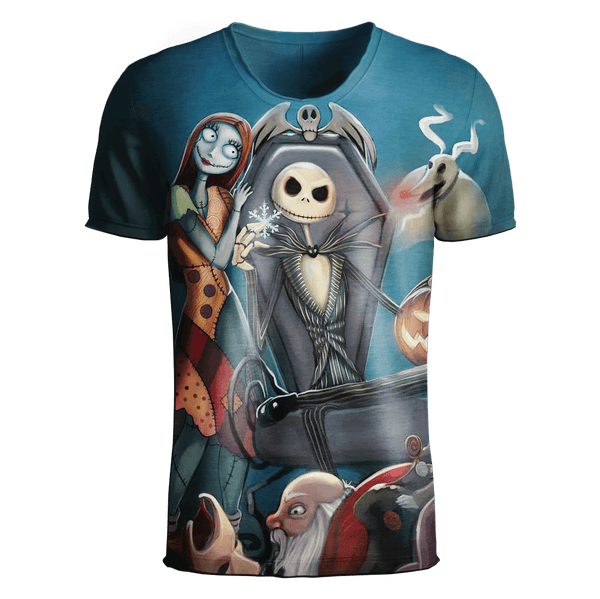 Jack Skellington T-Shirt - Jack Skellington 3D Clothing V4