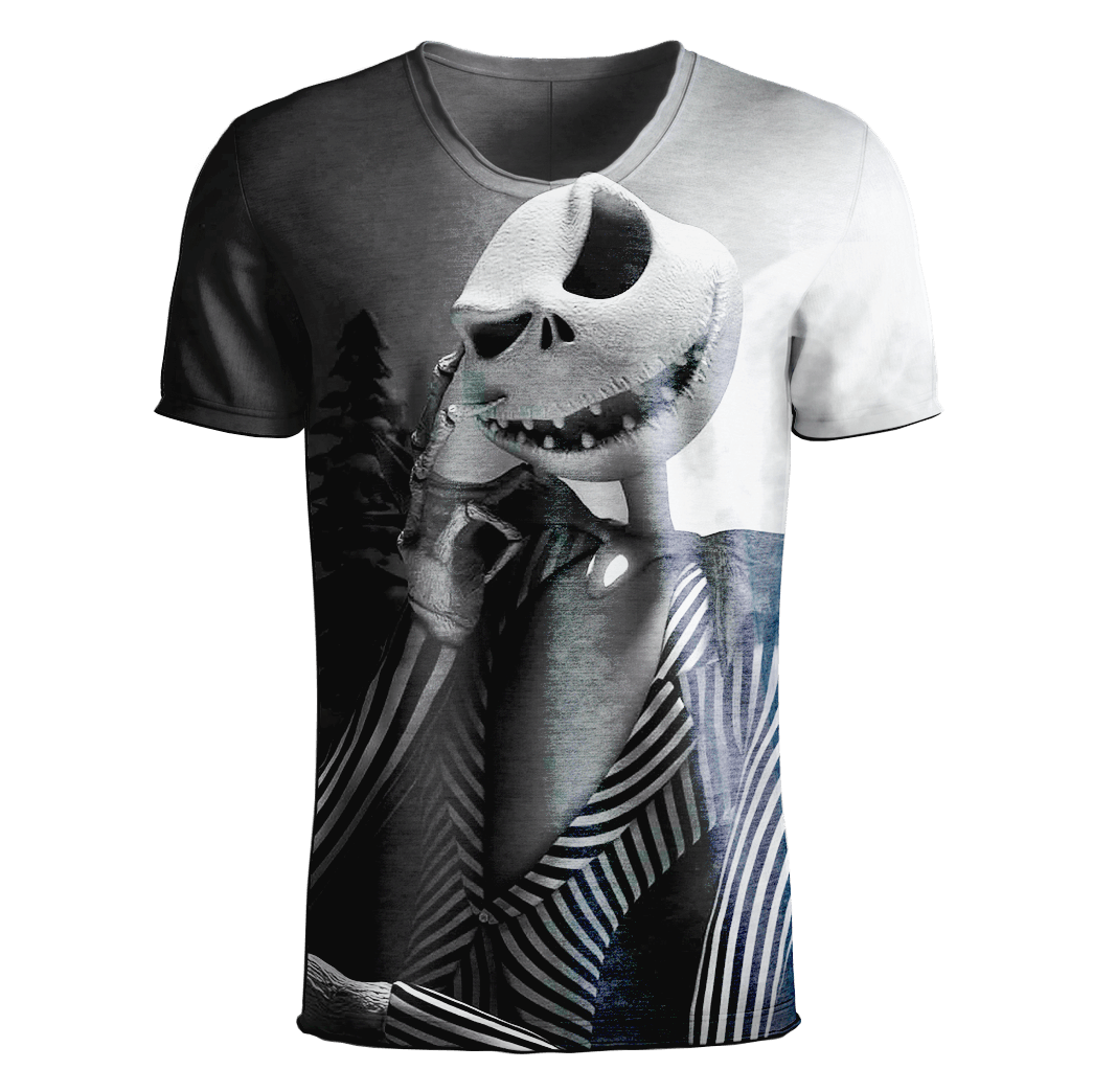 Jack Skellington T-Shirt - Jack Skellington 3D Clothing V5