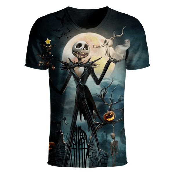 Jack Skellington T-Shirt - Jack Skellington 3D Clothing V17