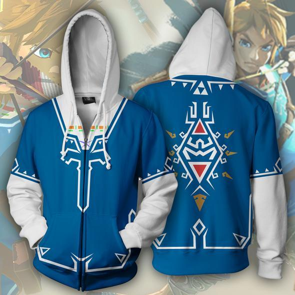 The Legend of Zelda Hoodies - The Legend of Zelda Unisex Zip Up Hoodie