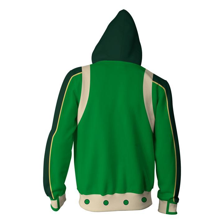 My Hero Academia Hoodies - Boku No Hero Academia Tsuyu Asui Zip Up Hoodie