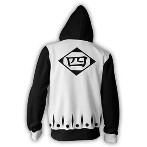 Bleach Hoodies - Bleach 4th Division Zip Up Hoodie