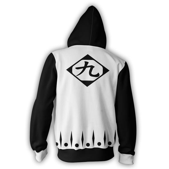 Bleach Hoodies - Bleach 9th Division Zip Up Hoodie