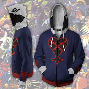Kingdom Hearts Hoodies - Heartless Zip Up Hoodie