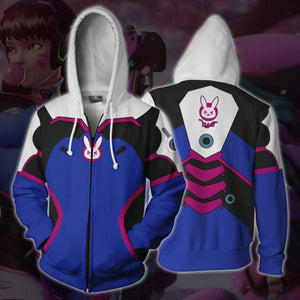 Overwatch Hoodies - D. Va Overwatch Zip Up Hoodie