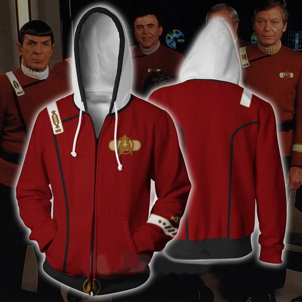 Star Trek Hoodies - Star Trek II: The Wrath of Khan Zip Up Hoodie
