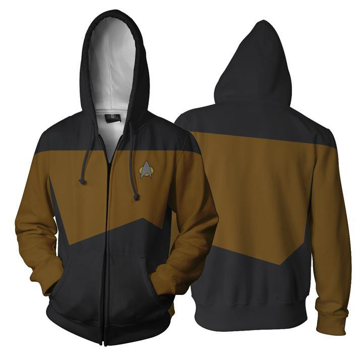 Star Trek Hoodies - Star Trek: The Next Generation Zip Up Hoodie
