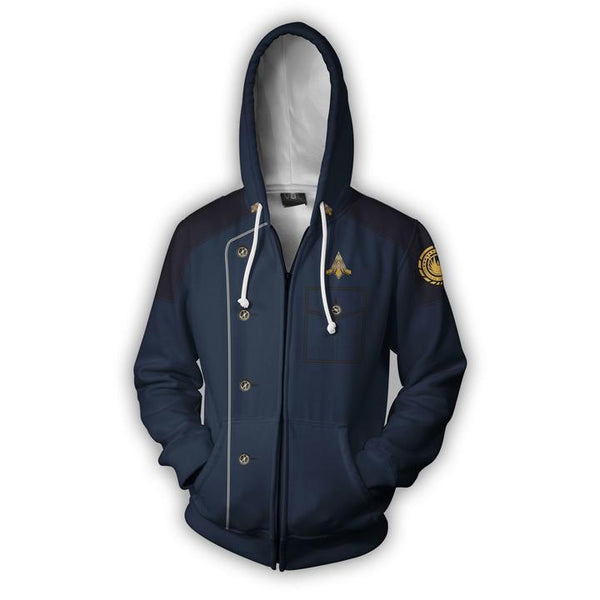 Battlestar Galactica  Hoodies - Battlestar Galactica  Zip Up Hoodie