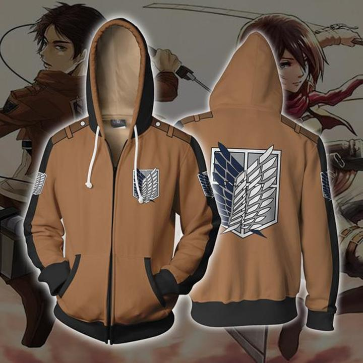Attack on Titan Hoodies - Attack On Titan Zip Up Hoodie