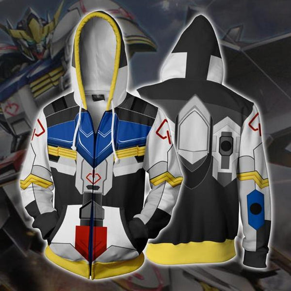 Mobile Suit Gundam Hoodies - Barbatos Zip Up Hoodie