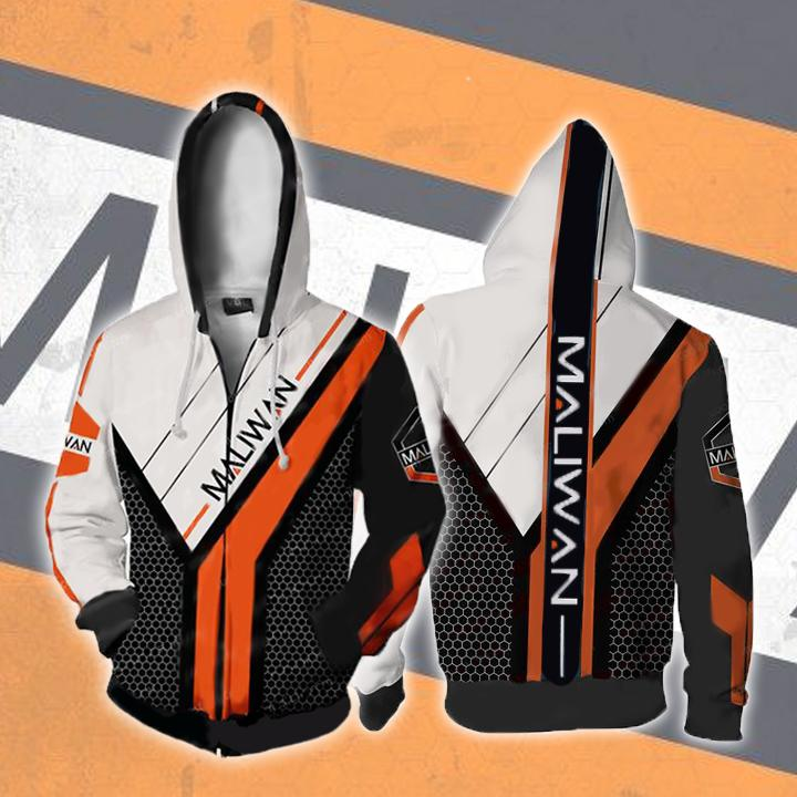 Borderlands Hoodies - Borderlands Maliwan V2 Zip Up Hoodie