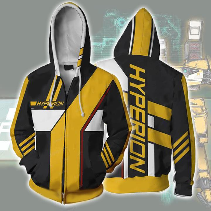Borderlands Hoodies - Borderlands Hyperion Zip Up Hoodie