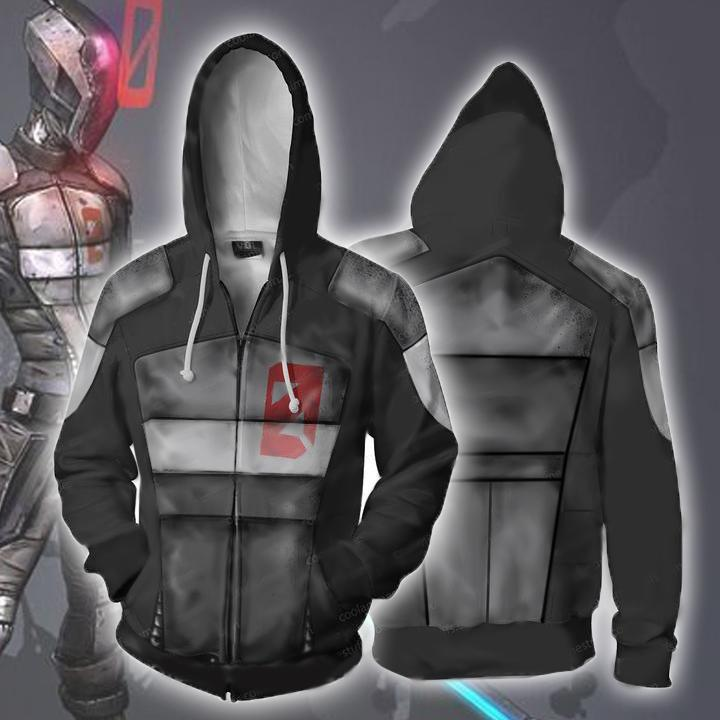 Borderlands Hoodies - Borderlands Zero Zip Up Hoodie