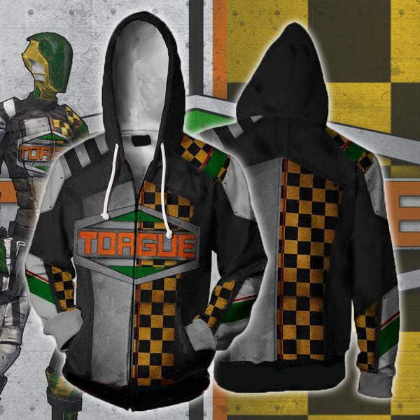 Borderlands Hoodies - Borderlands Torgue V2 Zip Up Hoodie