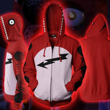FNAF Hoodies - FNAF Season 1 Foxy Cosplay Zip Up Hoodie