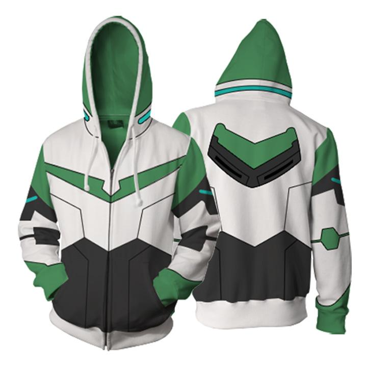 Voltron: Legendary Defender Hoodies - Paladin Pidge Zip Up Hoodie