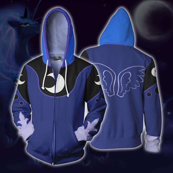 princess luna hoodies princess luna cosplay zip up hoodie kevf