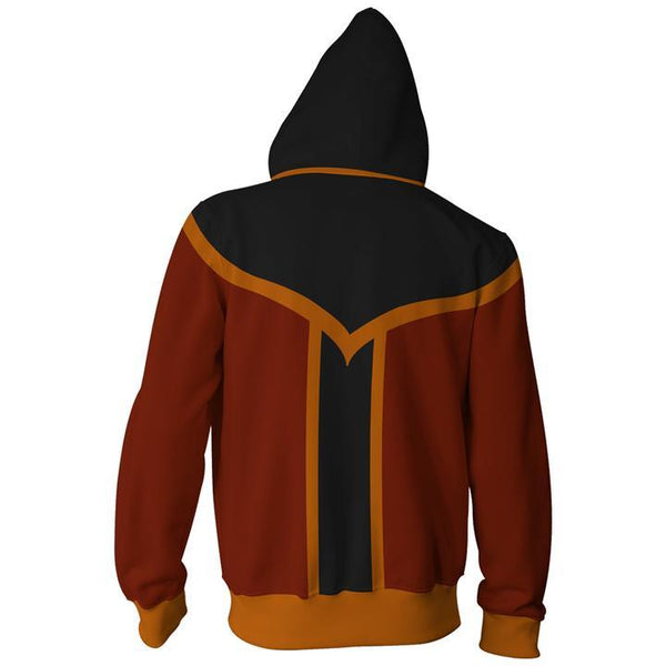 Avatar The Last Airbender Hoodies - Zuko Zip Up Hoodie
