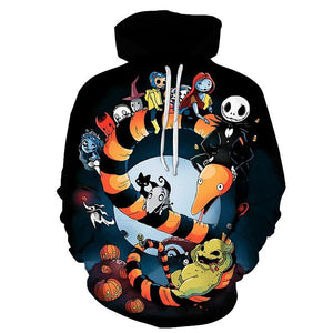 Jack Skellington Hoodies - Nightmare Before Christmas C Pull Over Hoodie - Jack Skellington Cloths