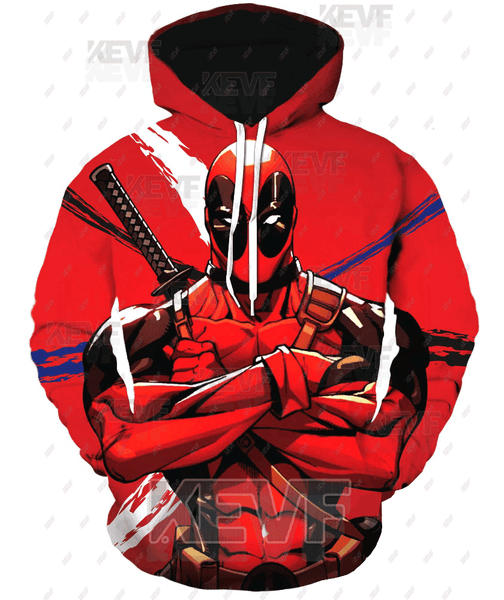 Deadpool Hoodies - Classy And Cool Comic Hero Deadpool Zip Up Hoodie
