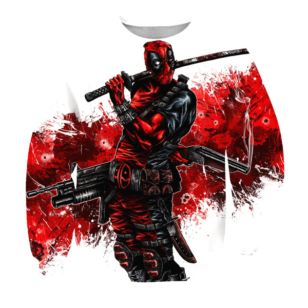 Deadpool Hoodies - Comic Book Superstar Hero Deadpool Zip Up Hoodie