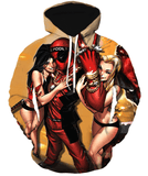 Deadpool Hoodies - Coolest Playboy Hero Deadpool Zip Up Hoodie