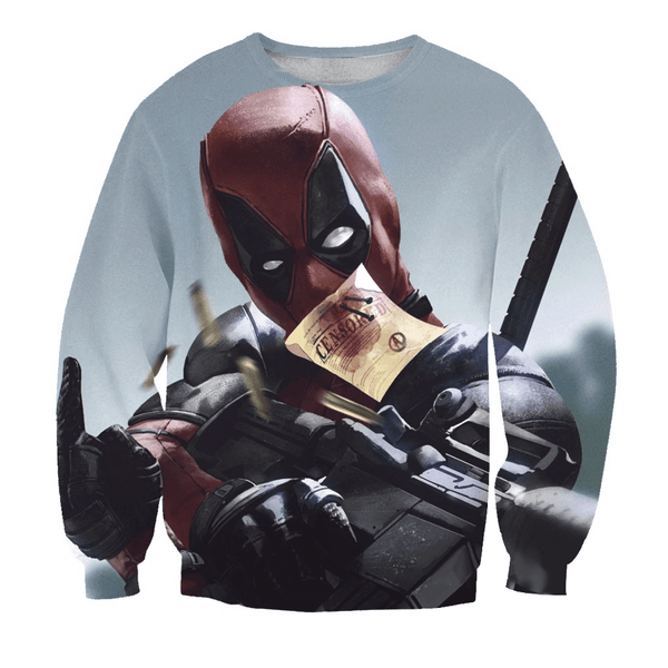 Deadpool Hoodies - Funny Censored Pun Deadpool Zip Up Hoodie