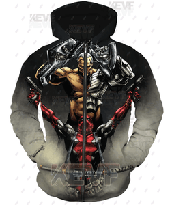 Deadpool Hoodies - Epic Battle The Punisher VS Deadpool Hoodie Zip Up Hoodie