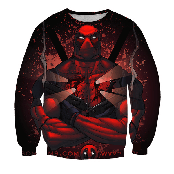 Deadpool Hoodies - Indestructible Champion Ultimate Deadpool Zip Up Hoodie