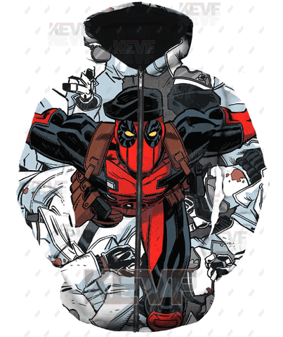 Deadpool Hoodies - Kill Them All Deadpool Zip Up Hoodie