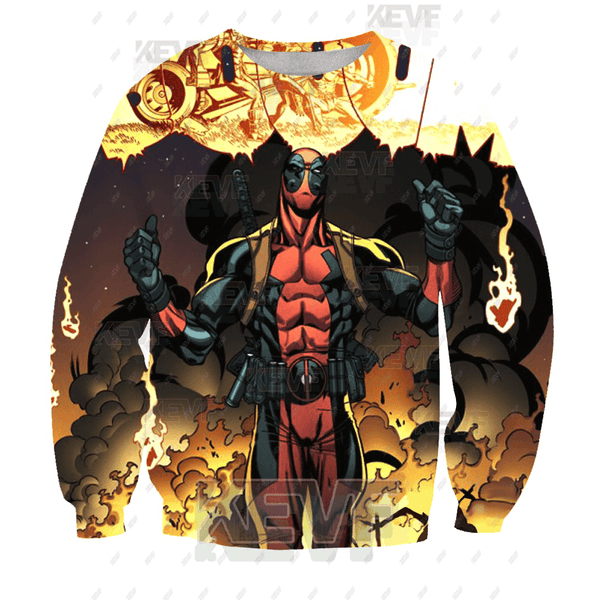 Deadpool Hoodies - Marvels Incredible Deadpool Zip Up Hoodie